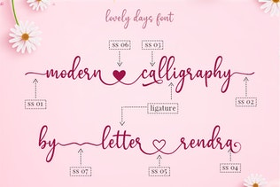 Lovely Days - Beautiful Script Font