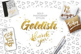 Thumbnail for Goldish Kit. For Photoshop+Extras