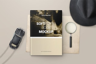 Thumbnail for Softcover Book Mockups