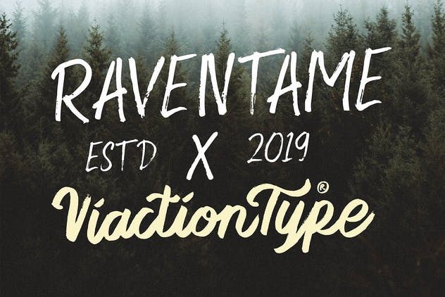 Raventame - Brush Font