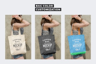 Thumbnail for Canvas Tote Bag Mockups Pack Vol. 2