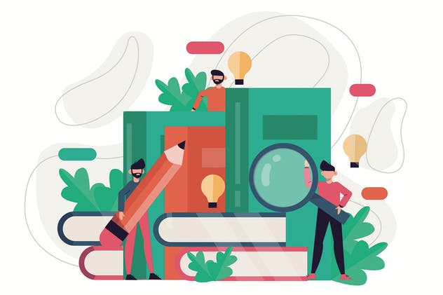 Online Library - Flat Illustration