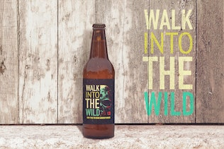 Thumbnail for Customizable Wooden 50cl Beer Mockup