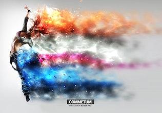 Миниатюра для Commetum - Космический хвост Photoshop Action