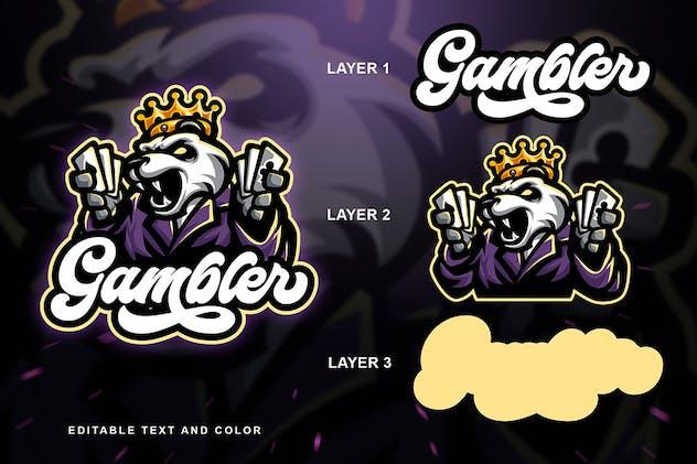 Gambler Panda Sport and Esport Logo - product preview 1