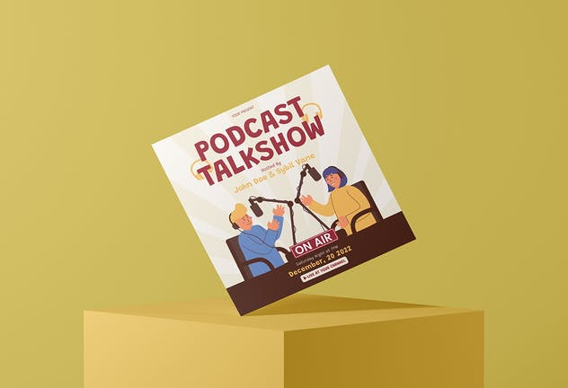 Podcast Talkshow - Flyer Media Kit - product preview 1