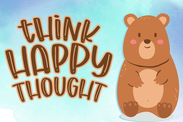 Chunky Bear - Handwritten Font