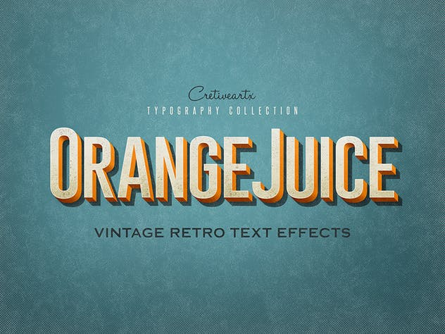 Vintage/Retro Text Effects 7 - product preview 2