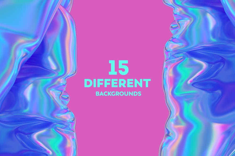 Iridescent Abstract Backgrounds  - V2 - product preview 6