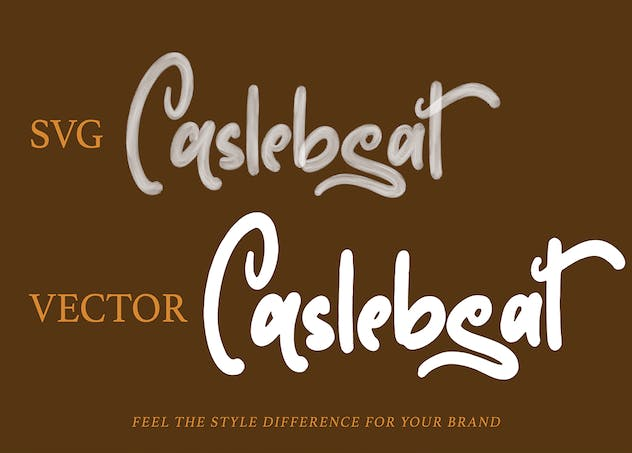 Caslebeat - Playfull SVG Font - product preview 2