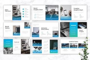 Thumbnail for BOOST - IT Company Google Slides Template