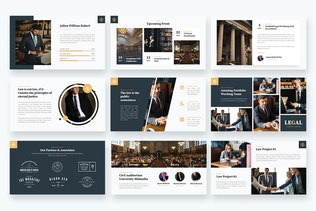 Thumbnail for LEGAL - Attourney & Lawyer Powerpoint Template