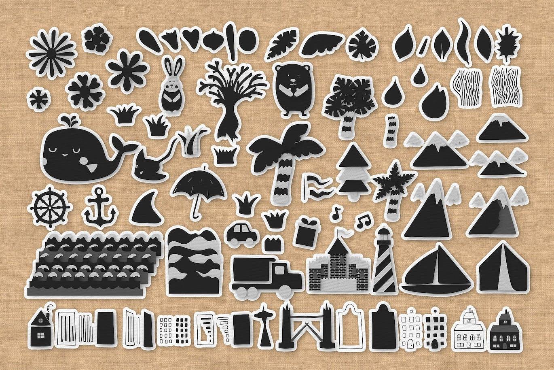 卡通面料王国Photoshop样式Fabric Kingdom Photoshop Edition插图4