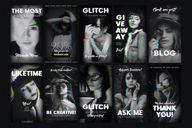 Glitch Instagram Stories - product preview 2