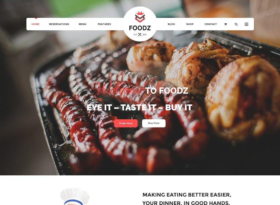 Foodz - Restaurant, Spa & Salon Joomla Template - product preview 1