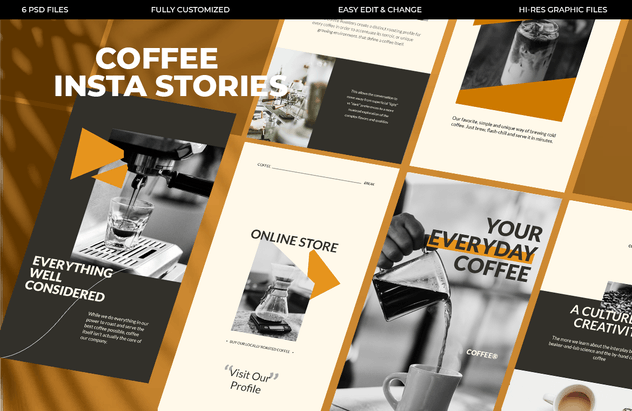 Coffee Instagram Stories Template - product preview 1