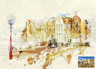 Thumbnail for Miniaturum - Watercolor Sketch Photoshop Action