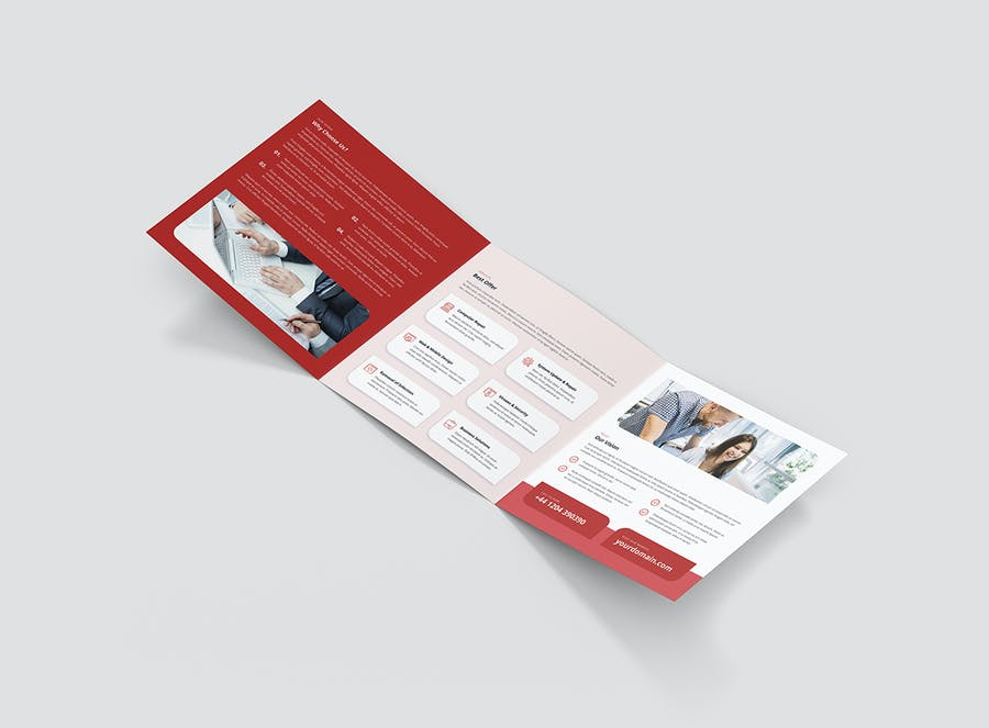 Brochure – IT Services Tri-Fold Square - product preview 6
