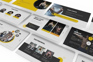 Gym and Fitness Keynote Presentation Template