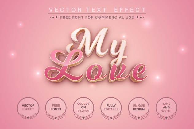 Woman's day - editable text effect for illustrator - product preview 2