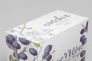 Thumbnail for Paper Wine Box Mockup