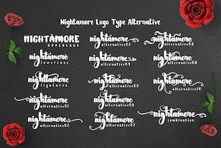 Thumbnail for Nightamore - Brush Font