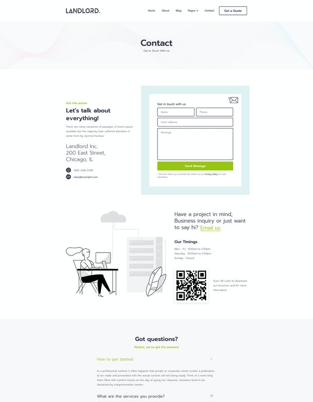Landlord - Landing Page Templates - product preview 3