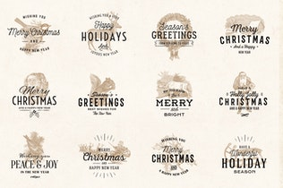 Thumbnail for Vintage Christmas Logo Badges