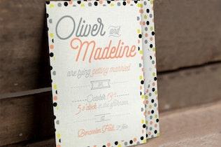 Thumbnail for Fun Pattern Wedding Invitation