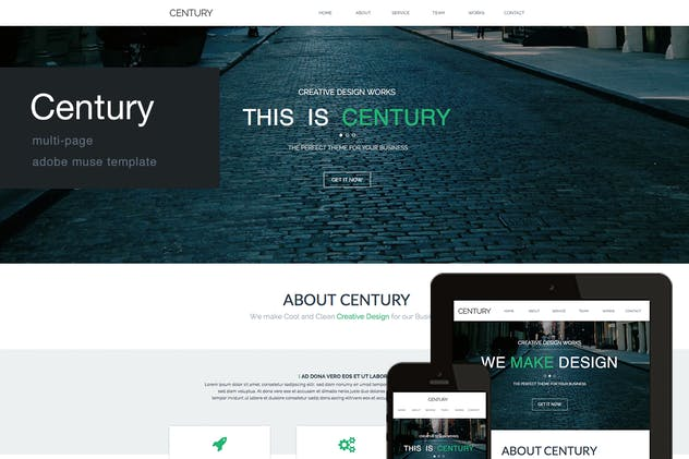 Century - Agency Multi Page Adobe Muse Template - product preview 0