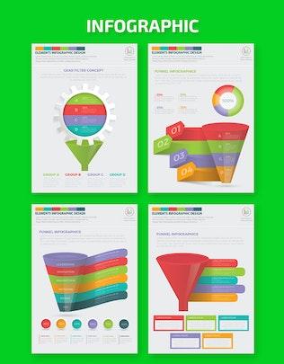 Миниатюра для Дизайн Инфографика воронки фильтра