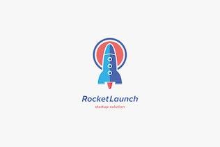 Миниатюра для Шаблон логотипа запуска ракеты