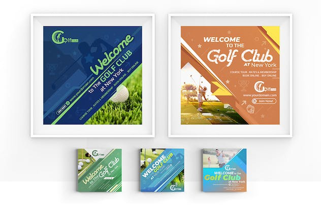 10 Instagram Post Banner-Golf - product preview 3