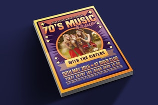 Thumbnail for 70's Music Show Poster Flyer