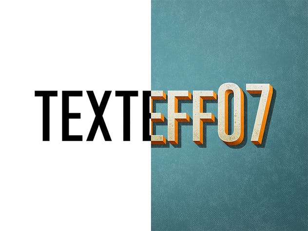 Vintage/Retro Text Effects 7 - product preview 1