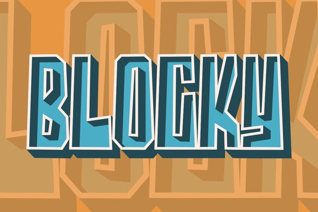Blocky | Display Font - product preview 1