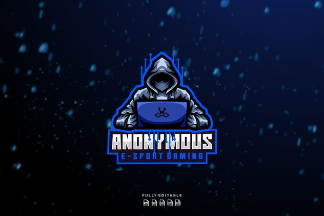 Anonymous E-sport Gaming Logo - product preview 1