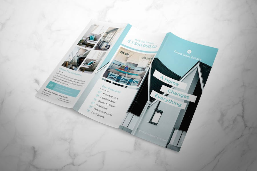 Real Estate Trifold Brochure - product preview 2