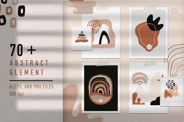Abstract Element Shape Pattern Seamless - product preview 4