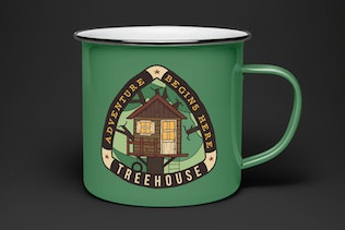 Tree House Badge / Vintage Camping Logo Patch SVG