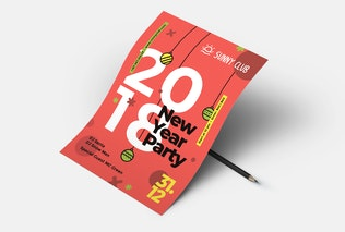 Thumbnail for New Year Party Flyer/Poster #1