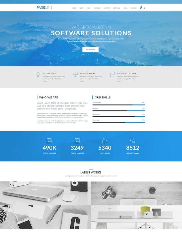 PageLine - Bootstrap Based Multipurpose HTML5 Tem