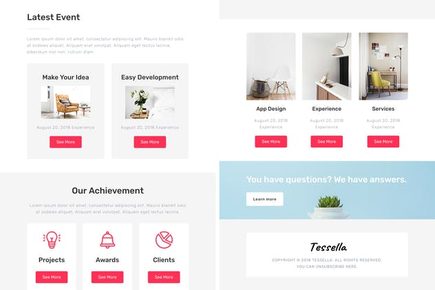 Tessella - Responsive Email + StampReady Builder - product preview 2