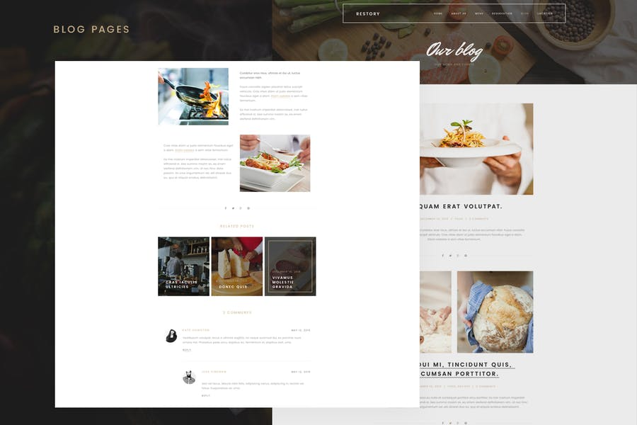 Restory - Restaurant & Cafe Joomla Template - product preview 5