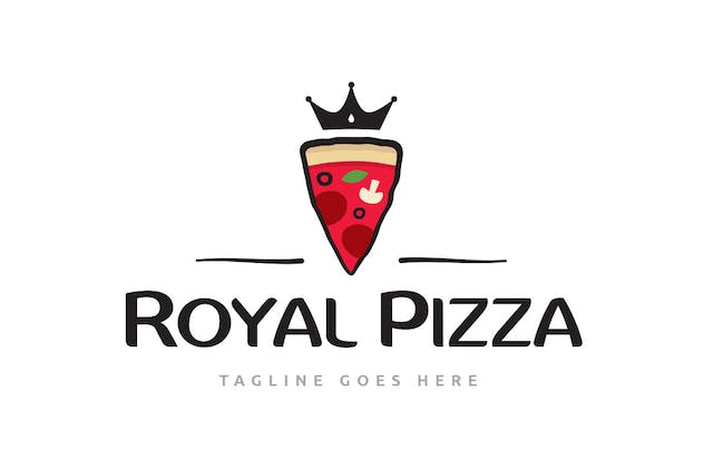 Royal Pizza Logo Template - product preview 1