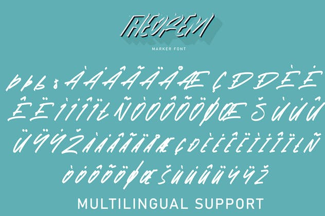 Theorem | Marker Font - product preview 6