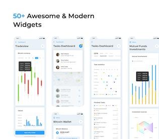 Mobile App Dashboard – HIX Multi-Format UI KIT