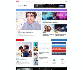 MAGZINE - News Magazine Newspaper PSD Templates
