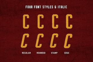 Миниатюра для Мужество Typeface (8 шрифты!)