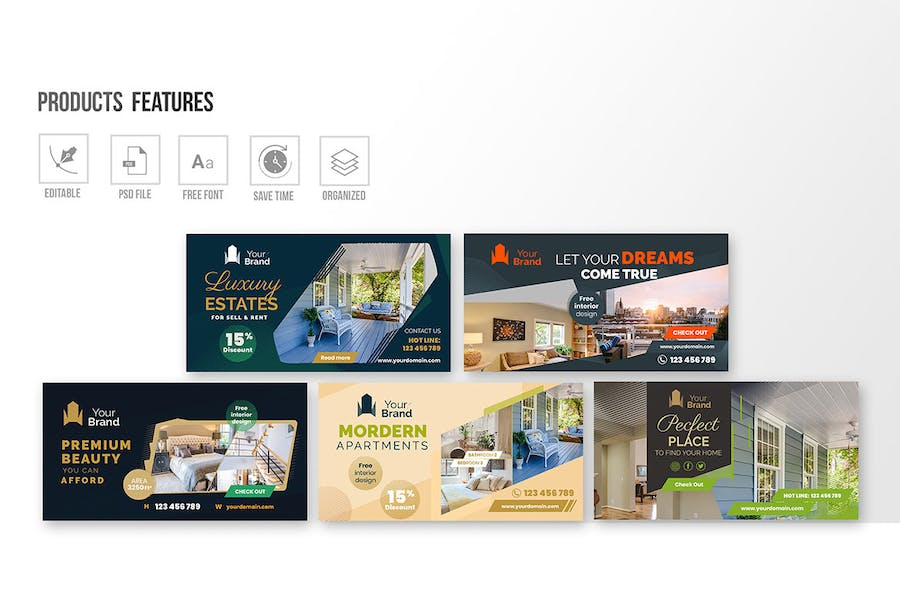 10 Social Media Banners - Real Estate - product preview 2